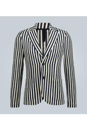 Harris Wharf London Striped Frisé blazer