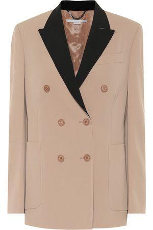 Stella McCartney Women Summer Jackets - Stretch-wool double-breasted blazer