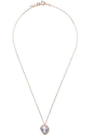 Tasaki 18kt rose FACETED Mabe pearl pendant