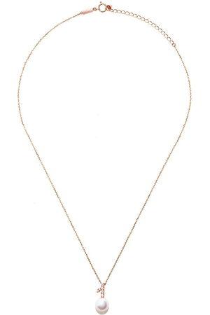 Tasaki Women Necklaces - 18kt rose Kugel Akoya pearl and diamond pendant