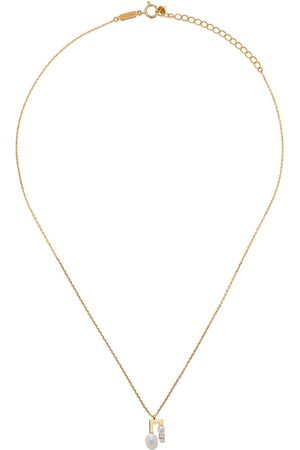 Tasaki Women Necklaces - 18kt yellow petit Balance Note Akoya pearl and diamond pendant