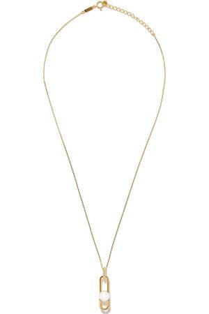 Tasaki 18kt yellow Fine Links Collection Line Akoya pearl and diamond pendant