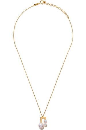 Tasaki Women Necklaces - 18kt yellow Balance Note Akoya pearl pendant