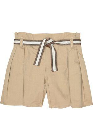 Brunello Cucinelli Belted stretch-cotton shorts