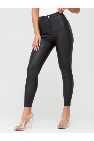 Missguided Vice High Waisted Coated Skinny Jeans