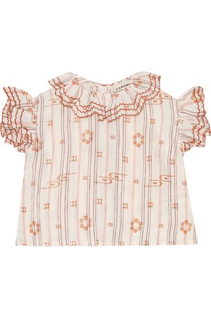 Caramel Baby Hammersmith printed linen top