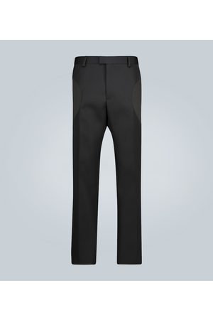 Bottega Veneta Straight-fit compact wool pants