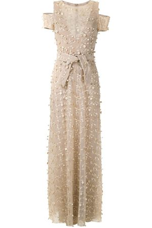 Gloria Coelho Textured gown - Neutrals