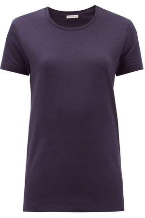 Moncler Logo-appliqué Cotton-jersey T-shirt - Womens - Navy