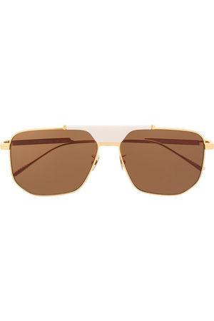 Bottega Veneta BV1036S hexagonal-frame sunglasses