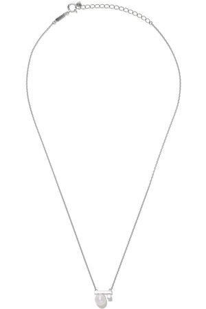 Tasaki Women Necklaces - 18kt white gold petit Balance Class Collection Line Akoya pearl and diamond pendant