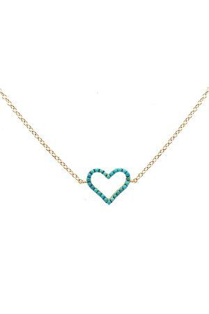 ROSA DE LA CRUZ Women Necklaces - Turquoise Heart Charm Necklace