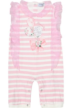 MONNALISA Baby striped cotton onesie