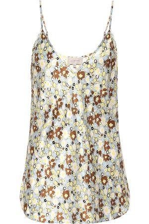 Lee Mathews Bella floral silk-satin top