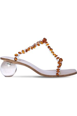 Cult Gaia 55mm Clio Embellished Pvc Sandals