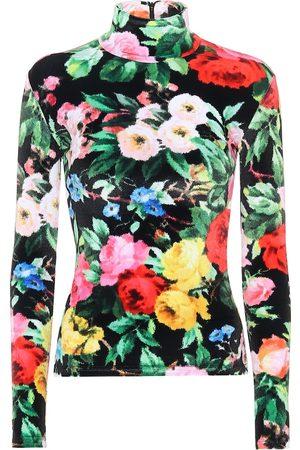 RICHARD QUINN Floral velour shirt