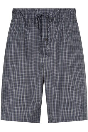 Hanro Cotton Check Pyjama Shorts