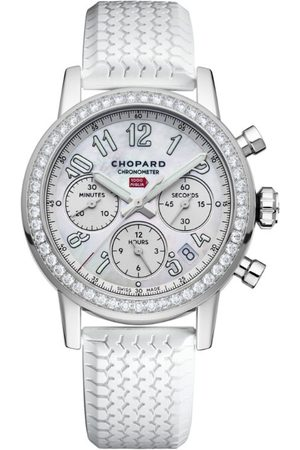 Chopard Mother-of-Pearl and Diamond Mille Miglia Chronograph Watch 39mm