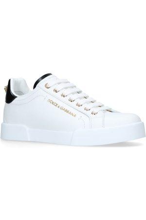 Dolce & Gabbana Leather Portofino Sneakers