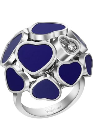 Chopard White and Stone Happy Hearts Ring