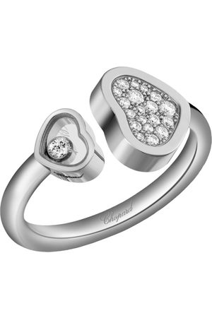 Chopard White and Diamond Happy Hearts Ring