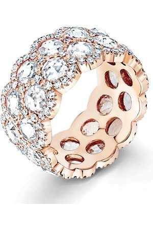 David Morris Rose Gold Rose Cut Ring