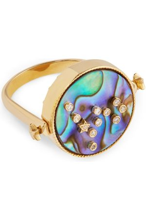 L'Atelier Nawbar Yellow Gold and Diamond Cosmic Love Pisces Ring