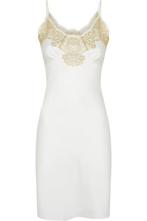 Gilda & Pearl Silk and Lace Slip Dress