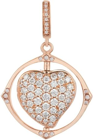 ANNOUSHKA Mythology Rose Spinning Heart Charm