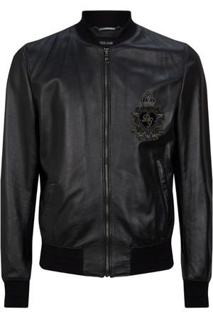 Dolce & Gabbana Logo Leather Jacket