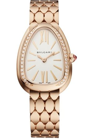 Bvlgari Brushed Rose and Diamond Serpenti Seduttori Watch 33mm