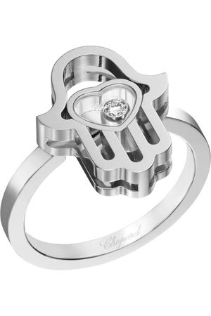 Chopard White Happy Diamonds Good Luck Charms Ring