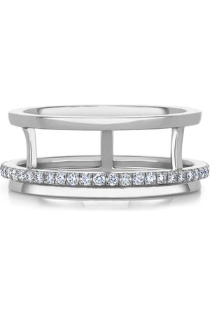 De Beers White Gold and Diamond Horizon Ring