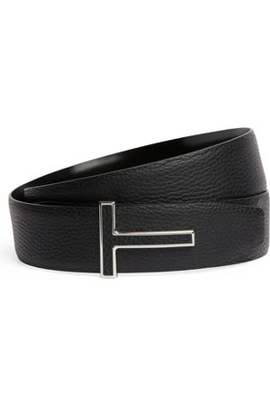 Tom Ford Leather Logo Belt