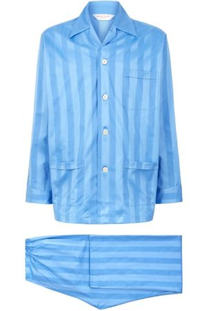 DEREK ROSE Lingfield Cotton Stripe Pyjama Set