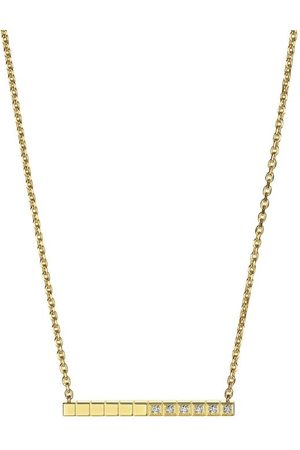Chopard Yellow and White Diamond Ice Cube Pure Necklace