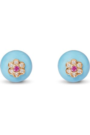David Morris Berry Turquoise Stud Earrings