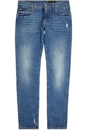 Dolce & Gabbana Mid-Wash Slim-Fit Jeans