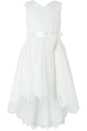 Monsoon Girls Rebecca Lilly Lace Hi Low Dress