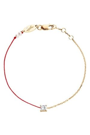 Redline 18ct Rose Gold And Diamond Chain And Thread Bracelet