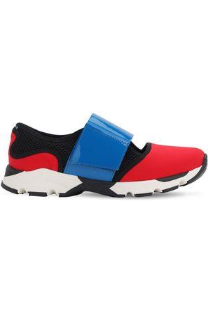 Marni Leather & Neoprene Strap Sneakers