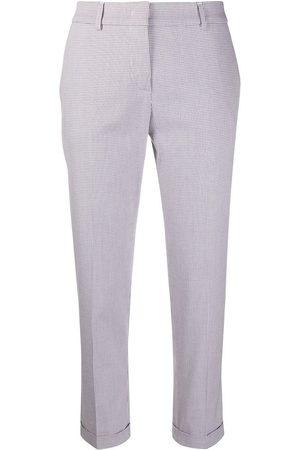Piazza Sempione Micro check print cropped trousers