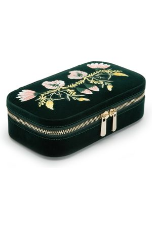 Wolf Zoe Forest Floral Jewellery Travel Case