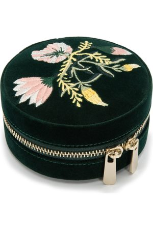 Wolf Zoe Forest Floral Round Jewellery Box