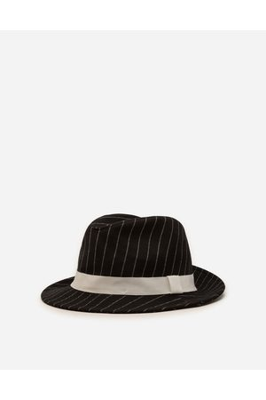 Dolce & Gabbana Collection - PINSTRIPE WOOLEN FABRIC FEDORA HAT