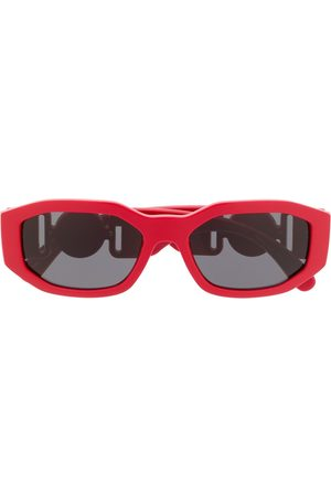 VERSACE Logo plaque rectangular sunglasses