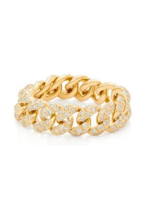 Shay Mini Link Diamond & 18kt Gold Ring - Womens - Crystal