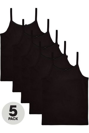 Very Girls 5 Pack Strappy School Vests