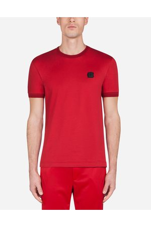 Dolce & Gabbana Men Short Sleeve - Collection - COTTON T-SHIRT WITH PATCH
