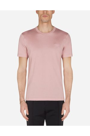 Dolce & Gabbana Collection - COTTON T-SHIRT WITH LOGOED PLAQUE